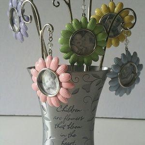 Hallmark Pewter Flower Photo Vase